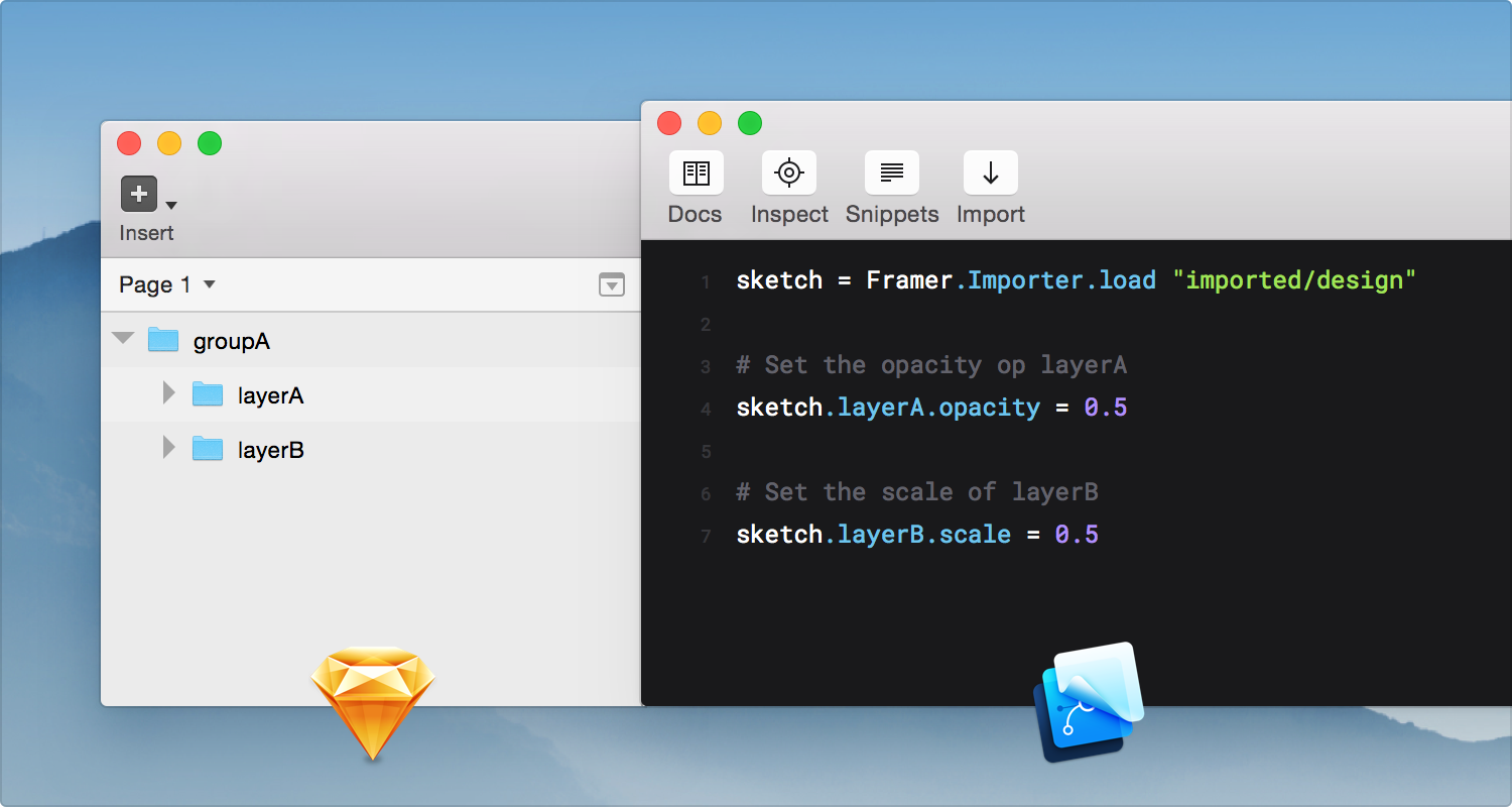 Sketch Layers & Framer Groups
