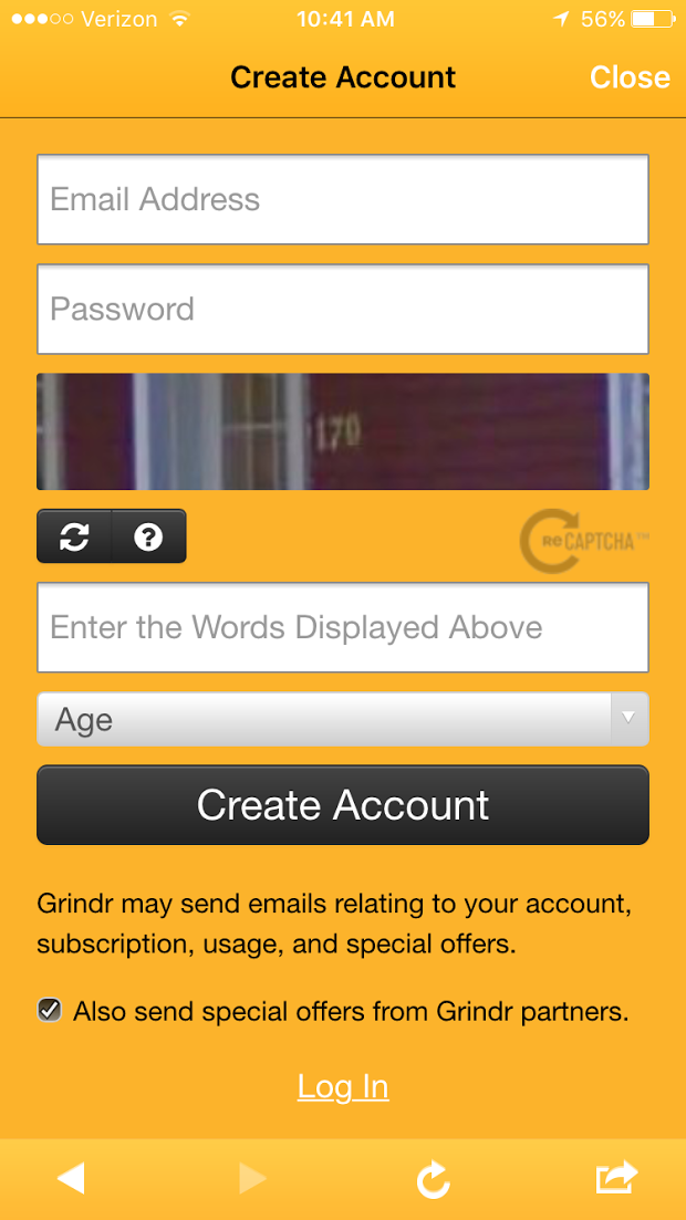How to sign into grindr