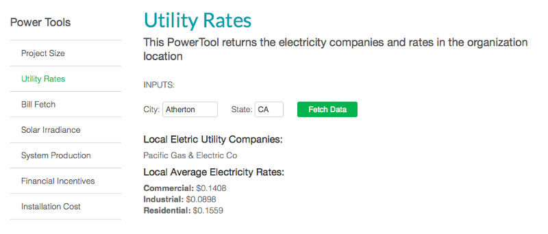 utility rate